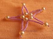 Vánoční hvězdičky z perliček