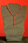 Červený ketlovaný náhrdelník