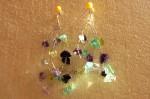 Drátované náušnice se skleněnými zlomky