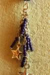 Fialový přívěšek s hvězdičkami
