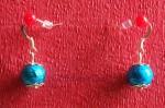 Z naší nabídky vybíráme: Modré náušnice s jednou kuličkou - 35 Kč