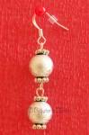 Stříbrné náušnice se dvěmi kuličkami