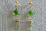 Z naší nabídky vybíráme: Zelené náušnice se zlatými řetízky 1 - 60 Kč
