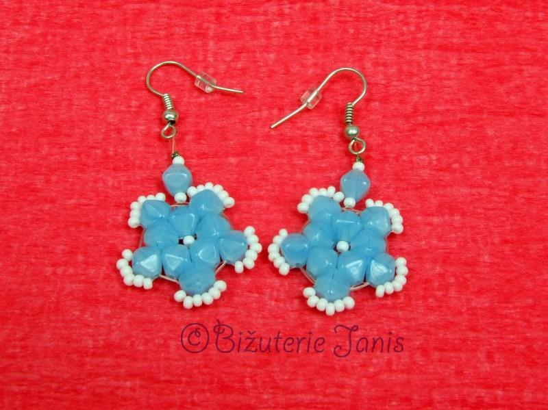 Modrobílé kytičky